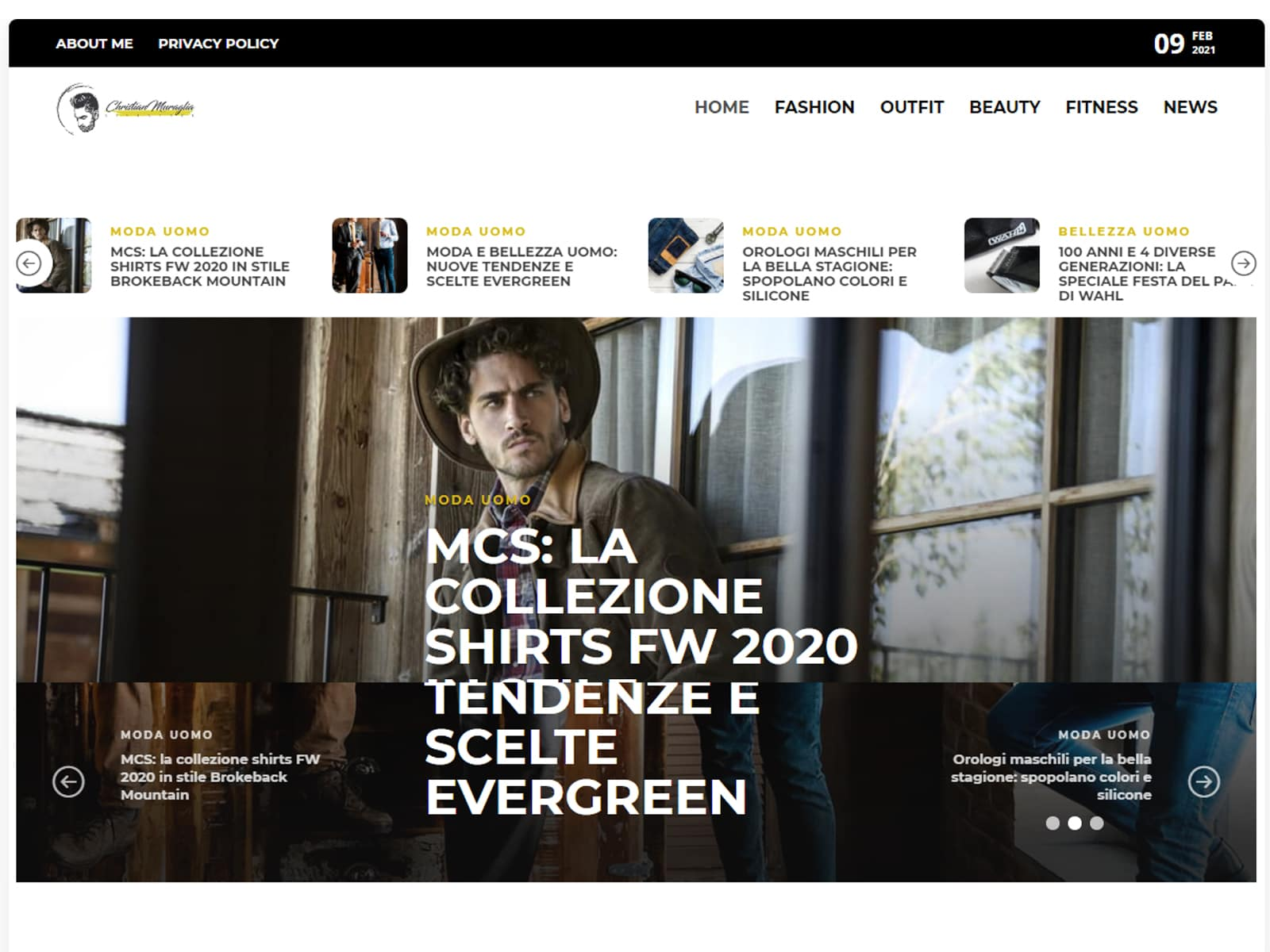 """Fashion blogger uomo """"Christian Muraglia"""" - Sito web"""