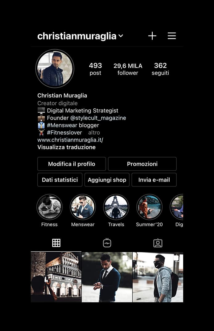 """Fashion blogger uomo """"Christian Muraglia"""" - Instagram"""