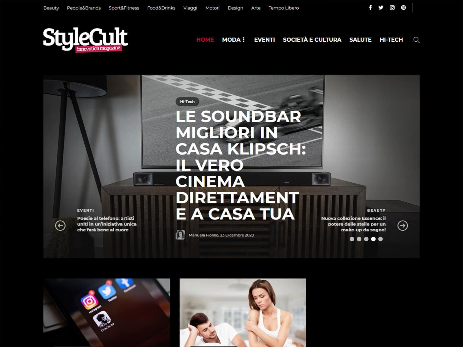 "Portfolio - Magazine online ""StyleCult"""