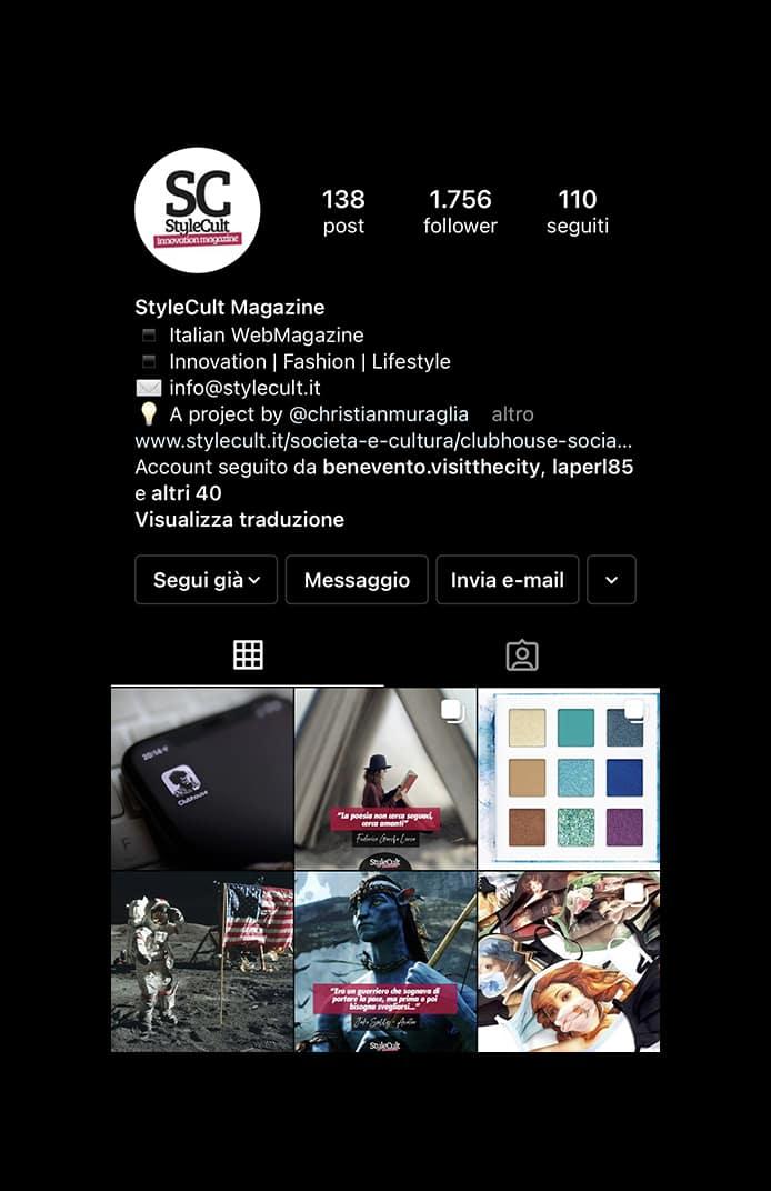 "Portfolio - Magazine online ""StyleCult"" Instagram"